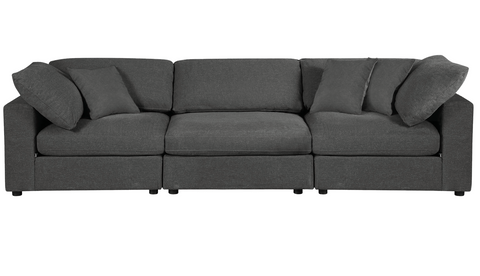 Sectional Grey Sofa  - 3 Pieces