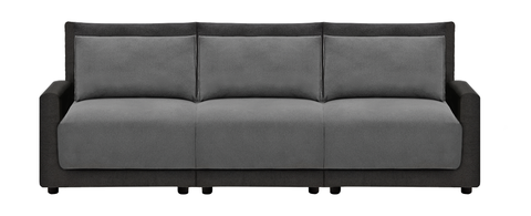 Seanna light and dark grey sectional sofa - 3 pieces