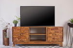 TV Console Natural Sheesham