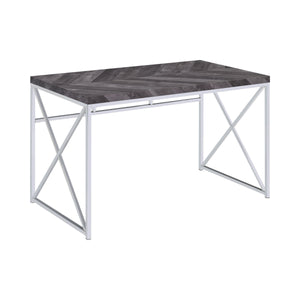 6 Month Rental Plan | Grey Herringbone Desk | From $45/mo
