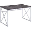 Grey Herringbone Desk