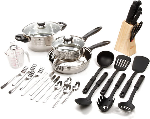 Full Kitchen Essentials and Dinnerware Set