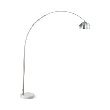 "Chrome 80"" Arch Floor Lamp w/ Marble Base"