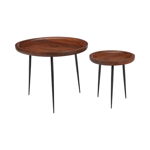 Wooden Nesting Bowl Table Set