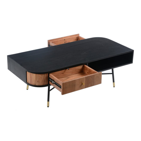 Black and Tan Coffee Table
