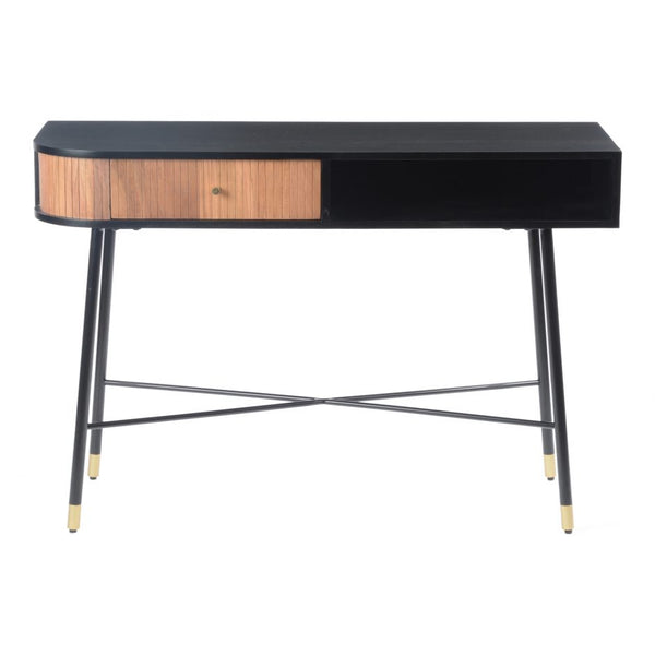 Black and Tan Console Table