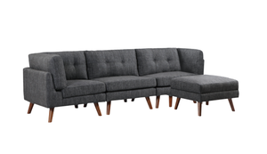 Churchill Dark Grey Sofa 4 piece