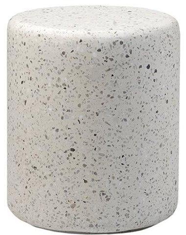 Adriti Side Table, White Terrazzo