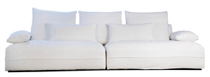 Laurel White Sofa
