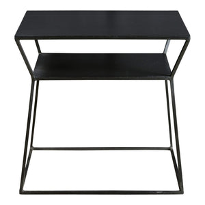 Matt-Black Side Table