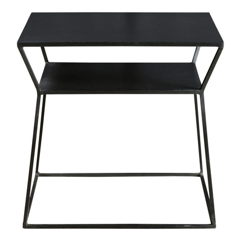 Matte-Black Side Table