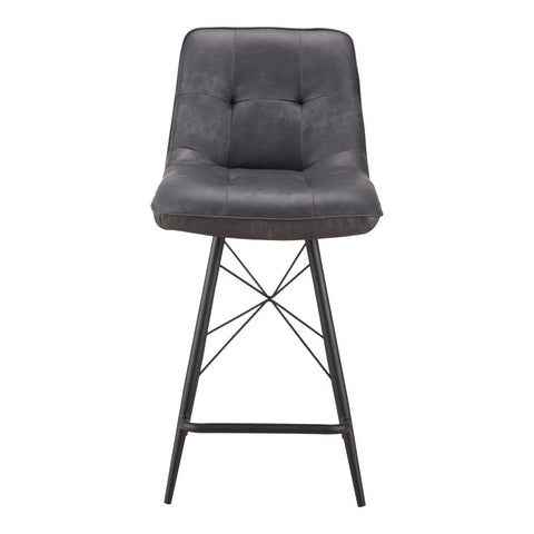 Black Padded Counter Stool