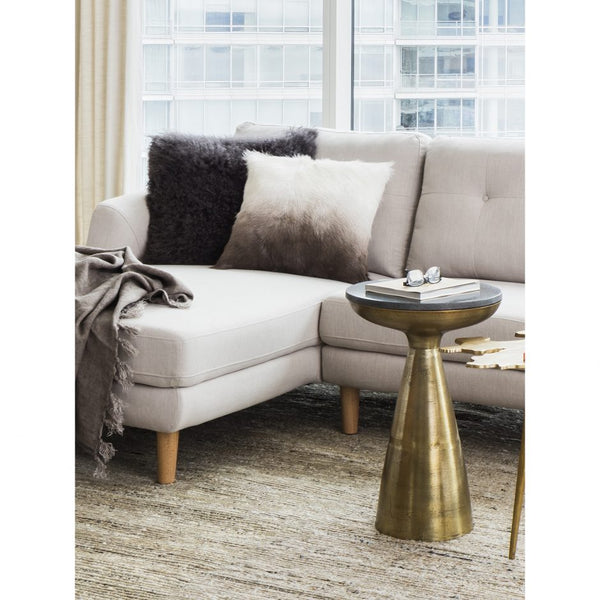 Granite And Gold Side Table