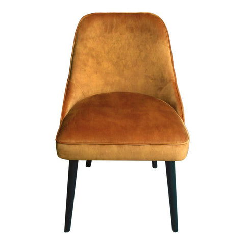 Velvet Burnt Orange Dining Chair
