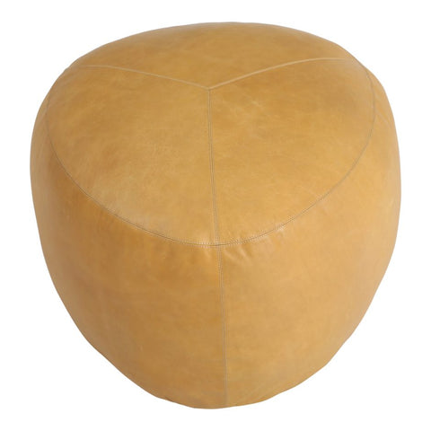 Salvatore Leather Ottoman Natural