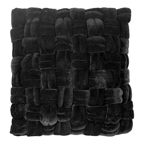 PJ Velvet Pillow, Black