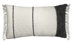 Wool Woven Pillow, Black and White