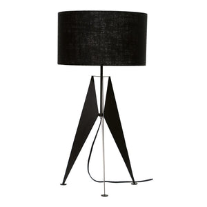 Geometric Iron Table Lamp Black