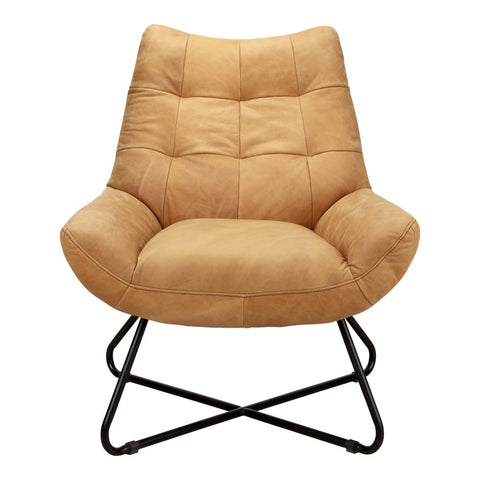 Retro Lounge Chair, Camel