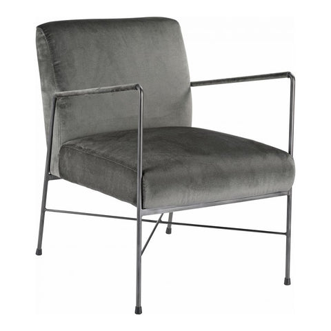 Sophie Modern Chair, Steel Velvet