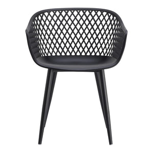 2 x Piazza Outdoor Chairs, Black