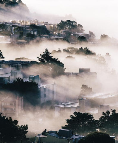 Twin Peaks. Taken by SF based photographer Joe Keefe Available in L, XL and Grand.