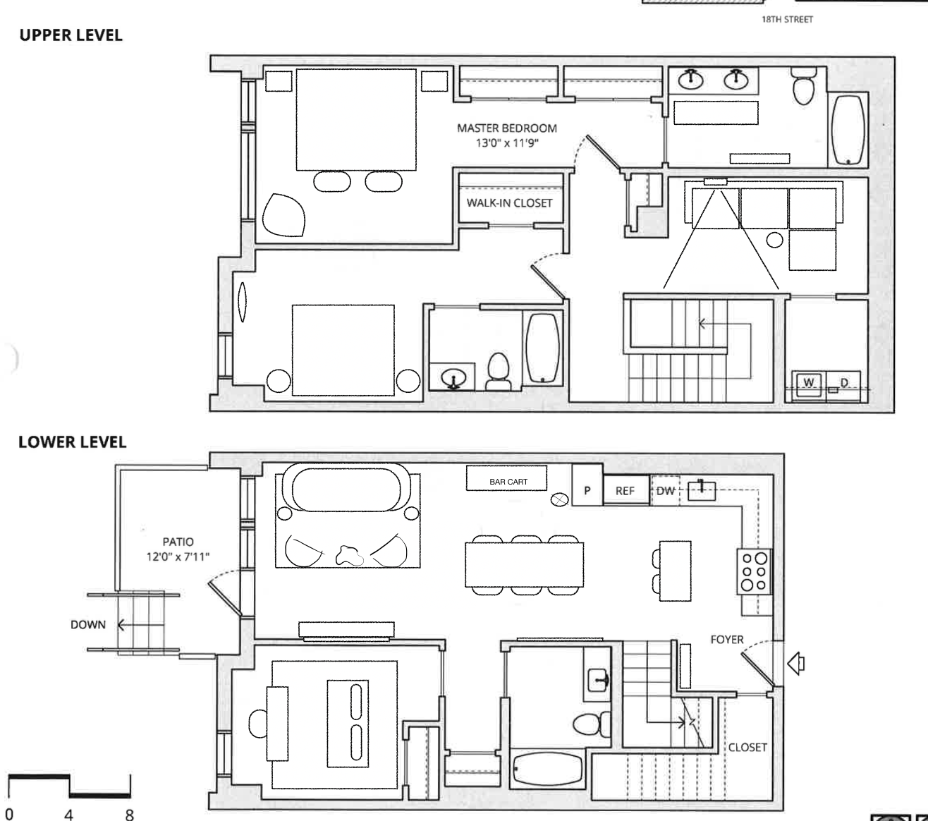 Mason and Mariposa 3 BDR Townhome Model Unit