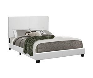White Leatherette Full Sized Bed