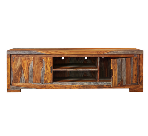 Two Tone Wood TV Console