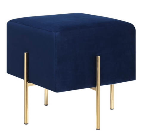 Blue and Gold Ottoman