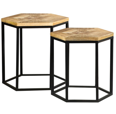 Hexagon Nesting Coffee Tables
