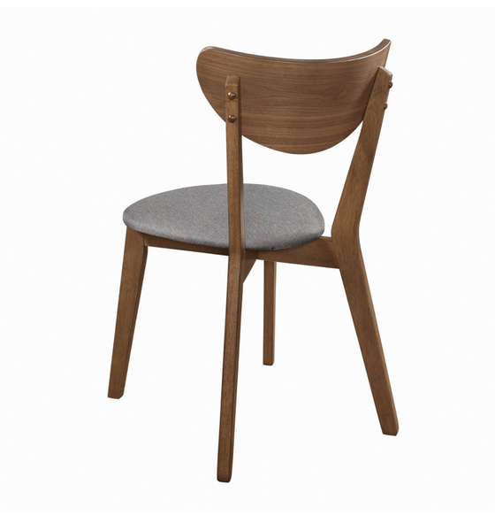 Walnut + Grey Dining chair (pack of 2)