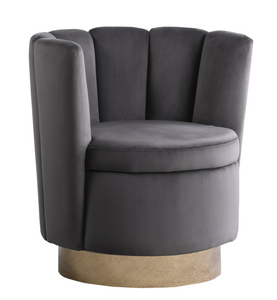 Velvet Clam Swivel Chair