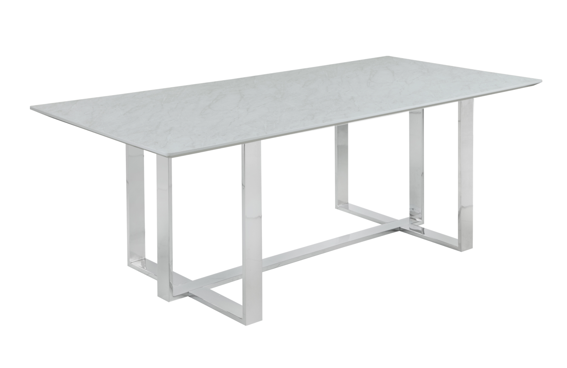 Tempered Glass Top Dining Table