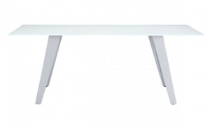 Zephyr Glass Table With Steel Legs
