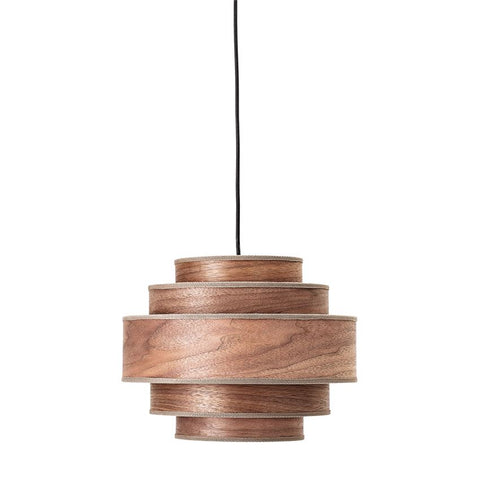 Wooden hanging light INSTALLED