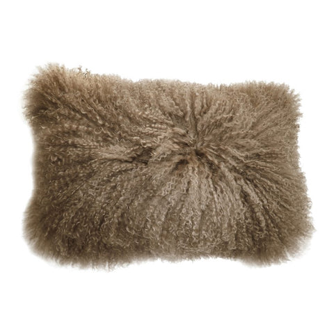 Lamb Fur Pillow, Natural