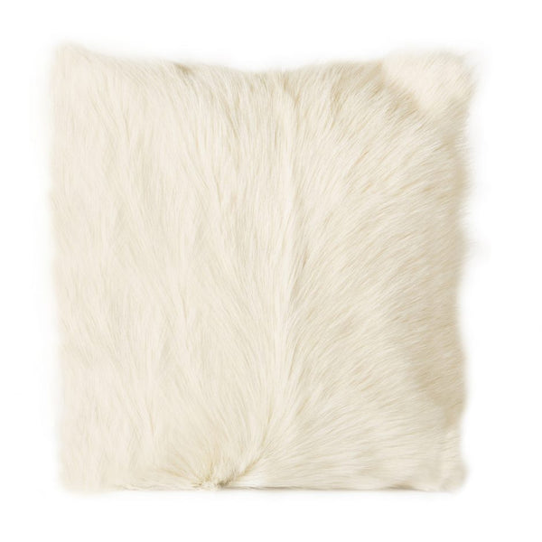 Goat Fur Pillow, White