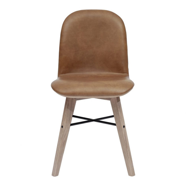 Napoli Dining Chair, Camel Leather