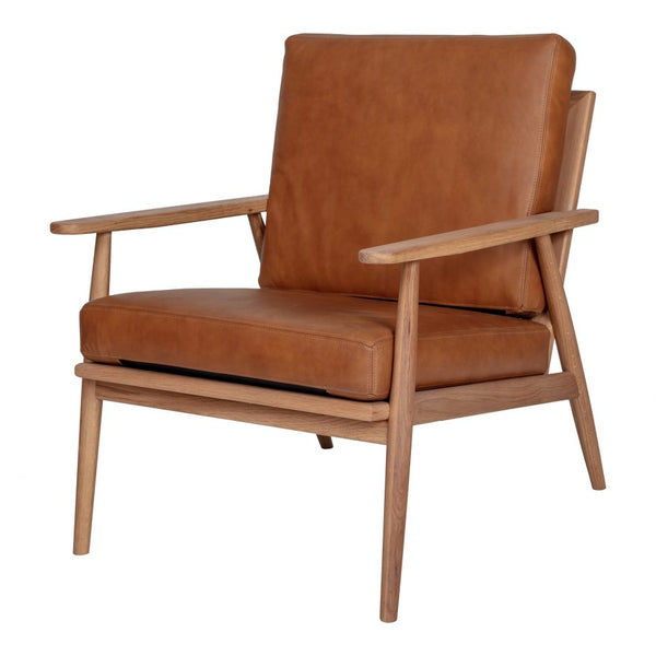 Harper Lounge Chair, Leather