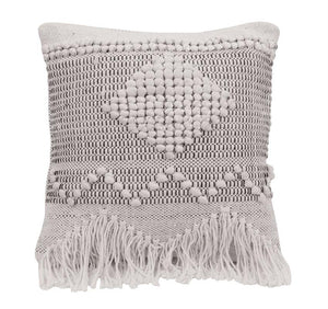 Handwoven Diamond Throw Pillow