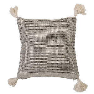 Beige Cotton Pillow w/ Tassels