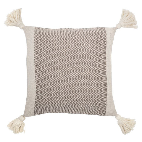 Cotton Blend Pillow w/ Tassels