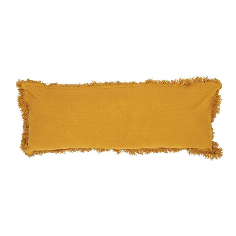 Mustard Fringe Pillow
