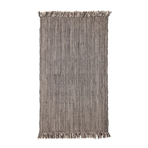 Black & Cream Rug / Throw
