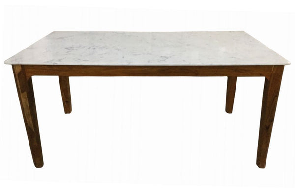 Heinrich Dining Table, Marble and Acacia