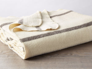 Undyed Tahoe Climate Beneficial Wool Blanket | Coyuchi