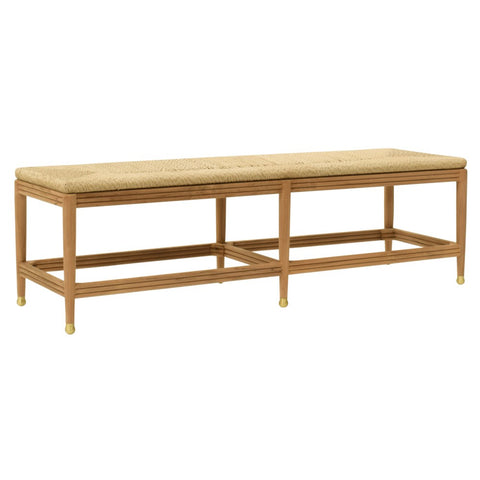 Teak and Hyacinth Bench