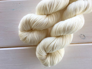 Fingering Yarn - Yang - 75/25 SW Merino, Nylon - Sock Yarn -  Natural Yarn - Lagniappe Sock