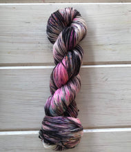 Load image into Gallery viewer, Blacked Out CATastrophe - 75/25 SW Merino, Nylon - Sock Yarn - Fingering Yarn - Hand Painted Yarn - Lagniappe Sock - Dyed To Order